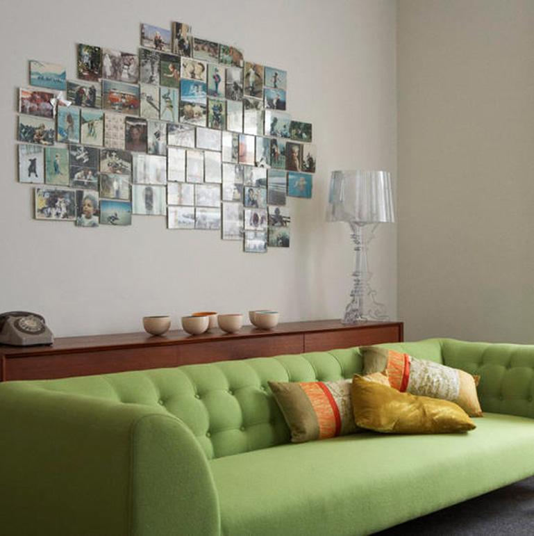 Как красиво оформить фотографии на стене своими